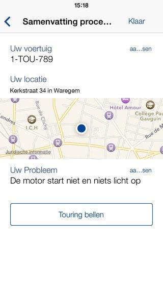 Touring app voor pechverhelping